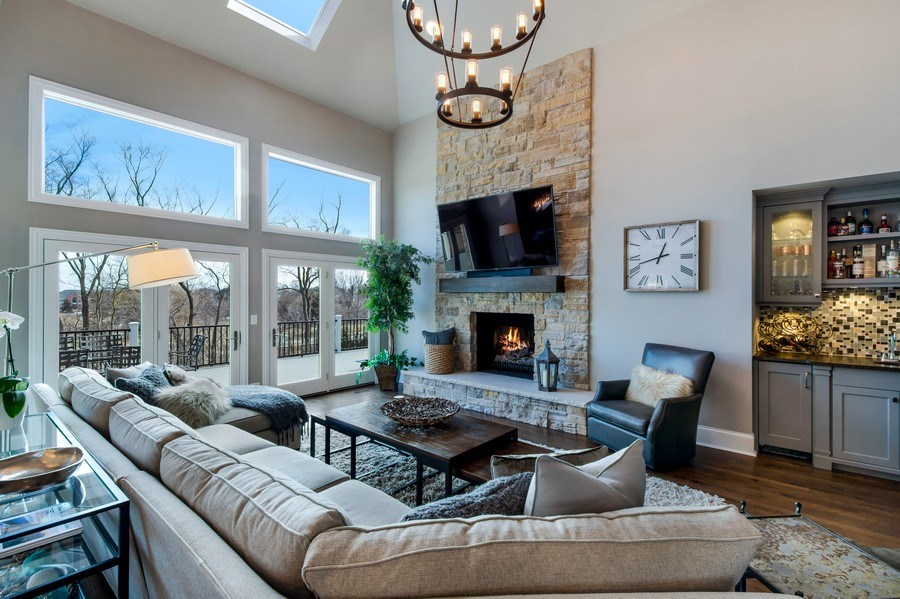 Real Estate Photography - 5 Wescott Lane, South Barrington, IL, 60010 - Family Room