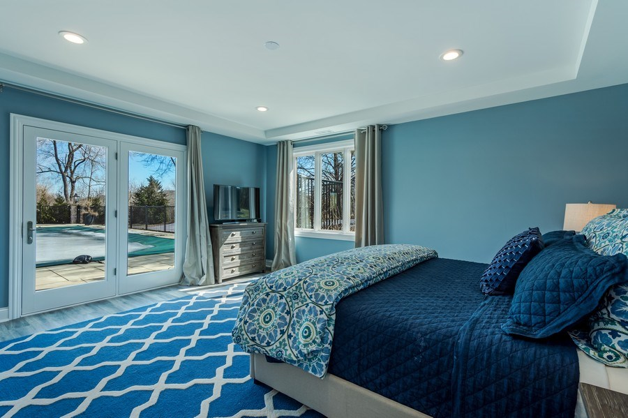 Real Estate Photography - 5 Wescott Lane, South Barrington, IL, 60010 - Lower Level Guest Room