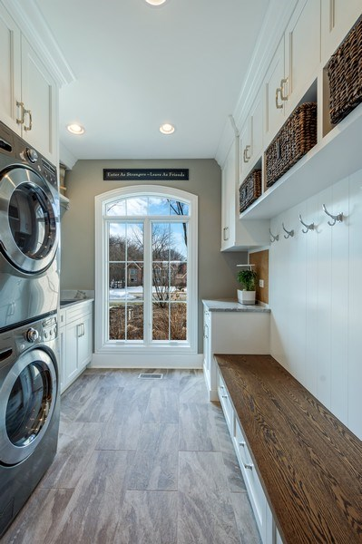 Real Estate Photography - 5 Wescott Lane, South Barrington, IL, 60010 - 1st Floor Laundry/Mudroom