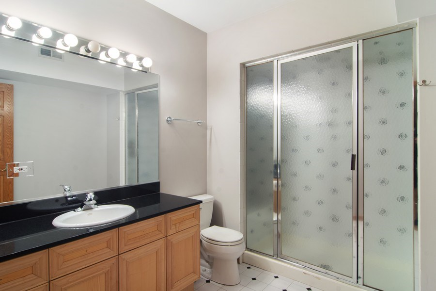 Real Estate Photography - 1001 Wildwood, Mt Prospect, IL, 60056 - 2nd Bathroom