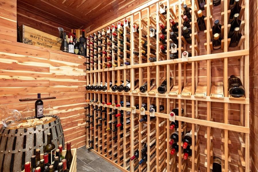 Real Estate Photography - 832 Cambridge Row, Addison, IL, 60101 - Wine Cellar