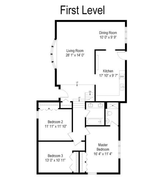 Real Estate Photography - 832 Cambridge Row, Addison, IL, 60101 - Floor Plan