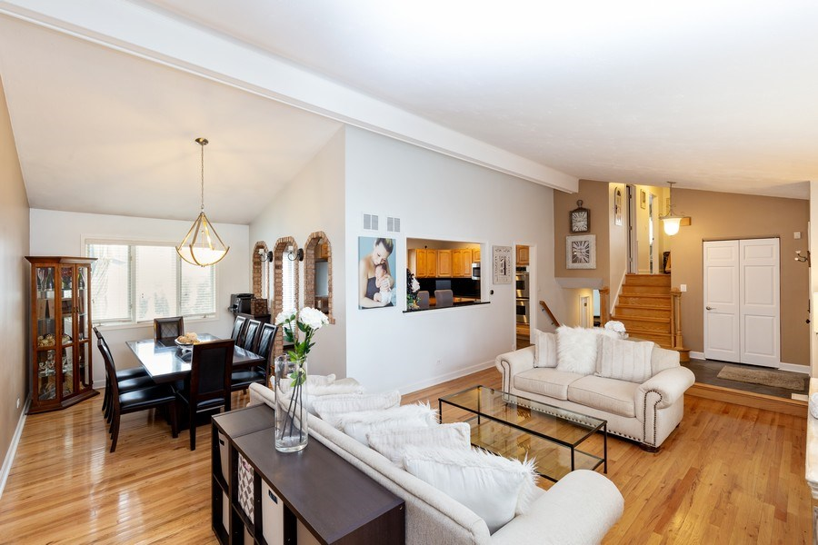 Real Estate Photography - 832 Cambridge Row, Addison, IL, 60101 - Living Room / Dining Room