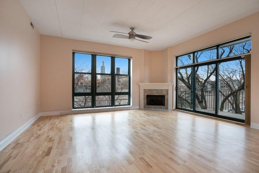 Real Estate Photography - 1301 W. Washington, Unit 306, Chicago, IL, 60607 - Living Room