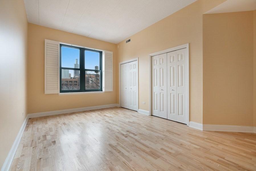 Real Estate Photography - 1301 W. Washington, Unit 306, Chicago, IL, 60607 - Master Bedroom