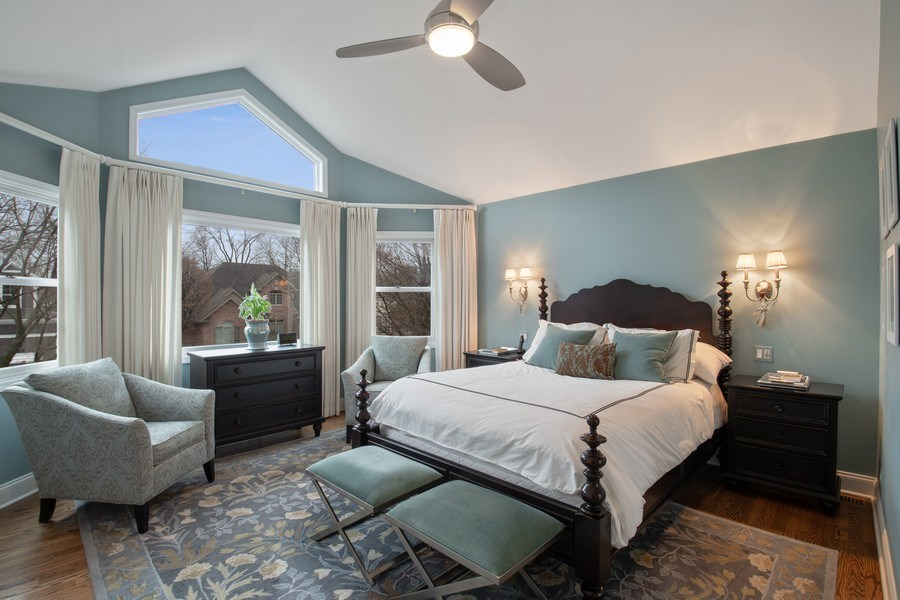 Real Estate Photography - 2542 Illinois Road, Northbrook, IL, 60062 - Master Bedroom