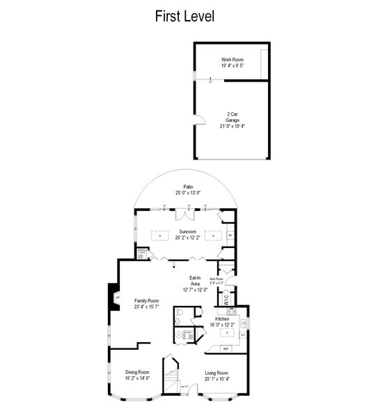 Real Estate Photography - 2542 Illinois Road, Northbrook, IL, 60062 - Floor Plan