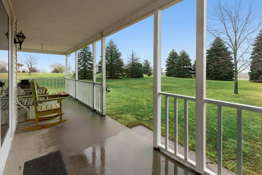 Real Estate Photography - 1412 E. Corning Road, Beecher, IL, 60401 - Porch