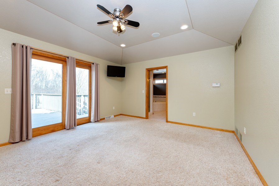 Real Estate Photography - N5375 Loraine Ct., Fredonia, WI, 53021 - Master Bedroom