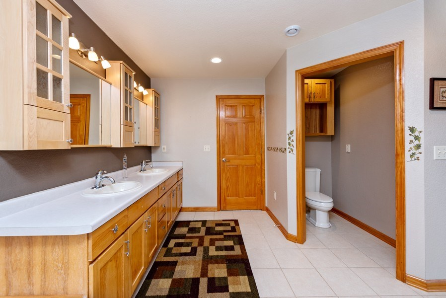Real Estate Photography - N5375 Loraine Ct., Fredonia, WI, 53021 - Master Bathroom