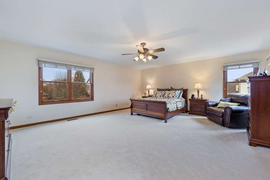Real Estate Photography - 8495 DOLFOR COVE, BURR RIDGE, IL, 60527 - Master Bedroom