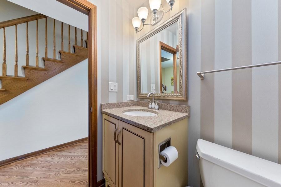 Real Estate Photography - 8495 DOLFOR COVE, BURR RIDGE, IL, 60527 - Powder Room