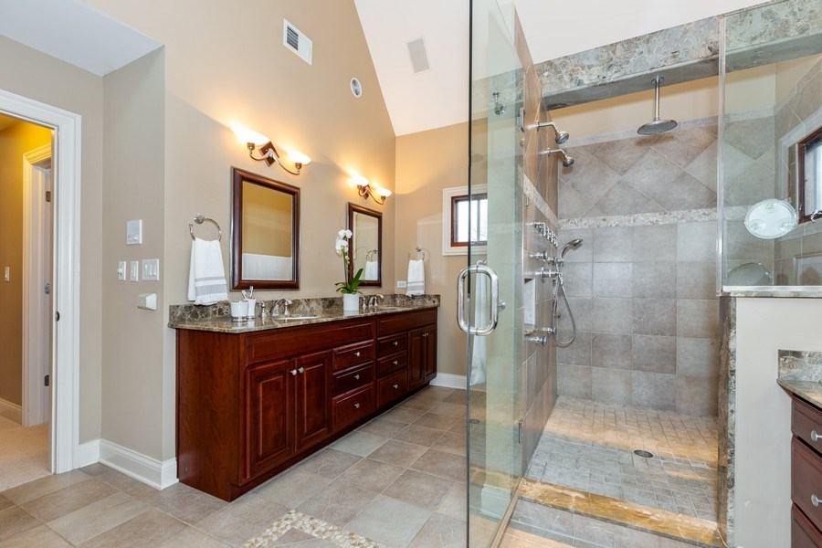 Real Estate Photography - 744 Farley Place, Downers Grove, IL, 60515 - Master Bathroom