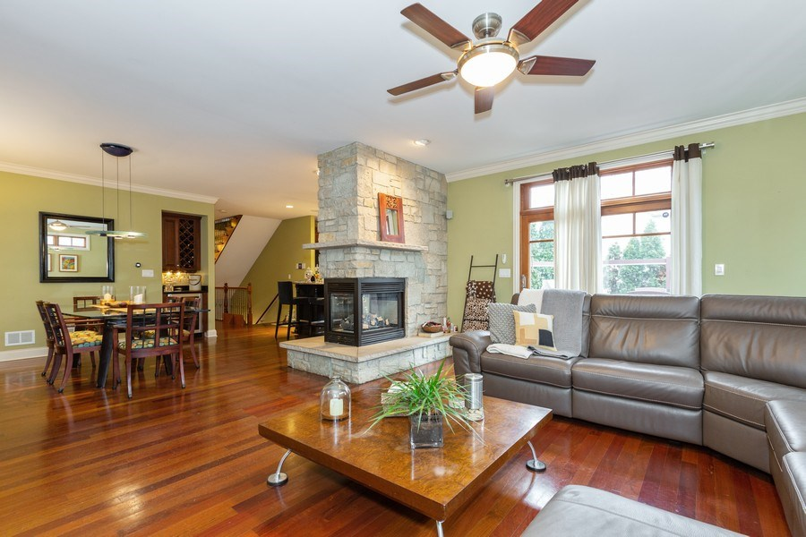Real Estate Photography - 744 Farley Place, Downers Grove, IL, 60515 - Family Room