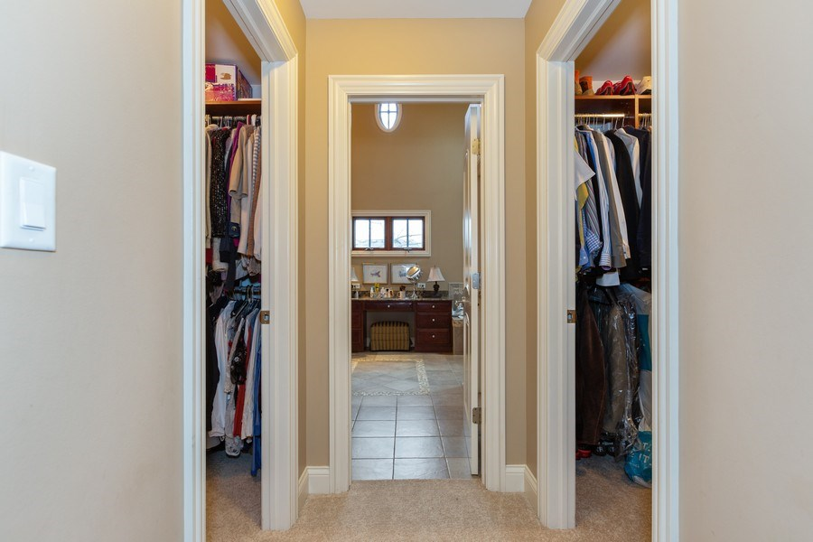 Real Estate Photography - 744 Farley Place, Downers Grove, IL, 60515 - Master Bedroom Closet