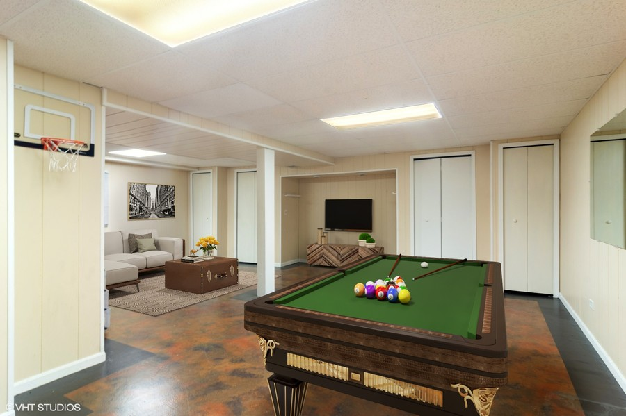 Real Estate Photography - 330 Ronnie Drive, Buffalo Grove, IL, 60089 - Recreation Room