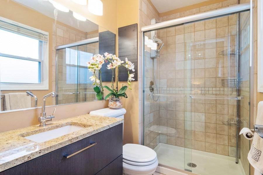 Real Estate Photography - 983 Shady Tree Lane, Wheeling, IL, 60090 - Master Bathroom