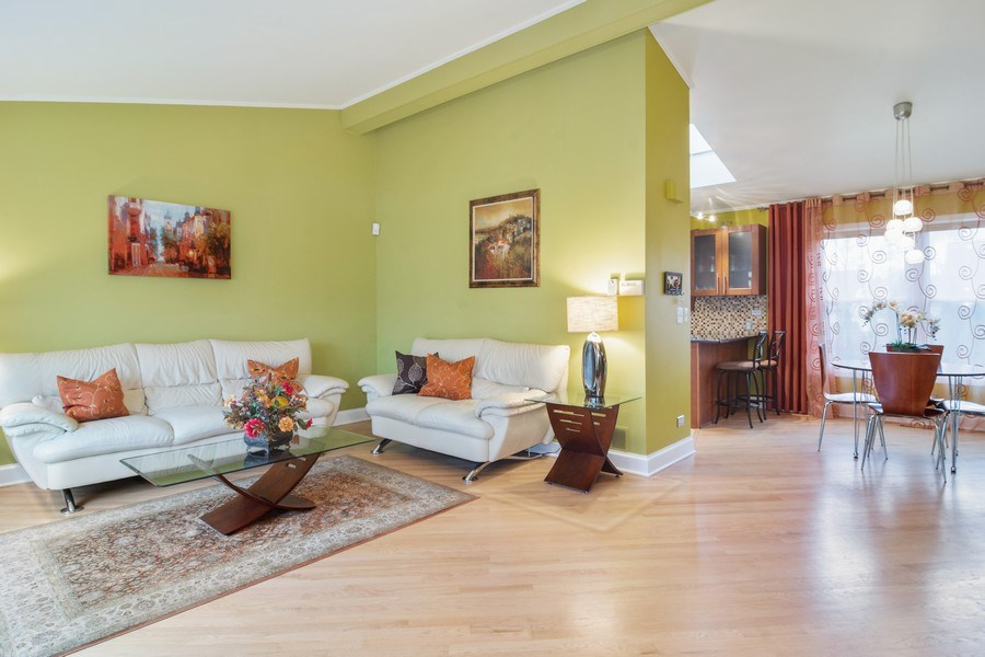 Real Estate Photography - 983 Shady Tree Lane, Wheeling, IL, 60090 - Living Room / Dining Room