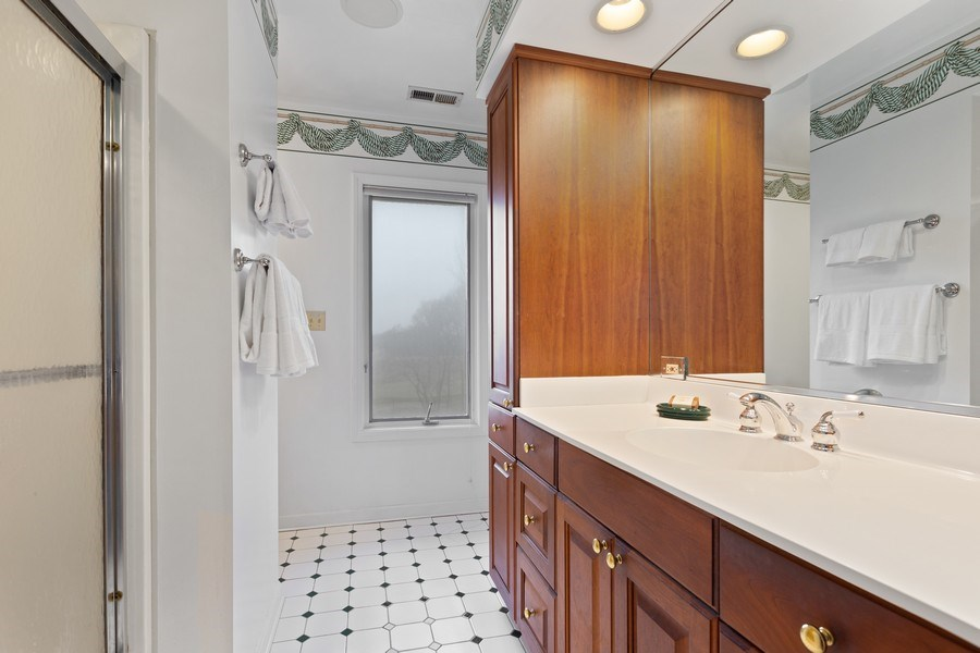 Real Estate Photography - 58 Golf Ave., Clarendon Hills, IL, 60514 - Master Bathroom (shared)