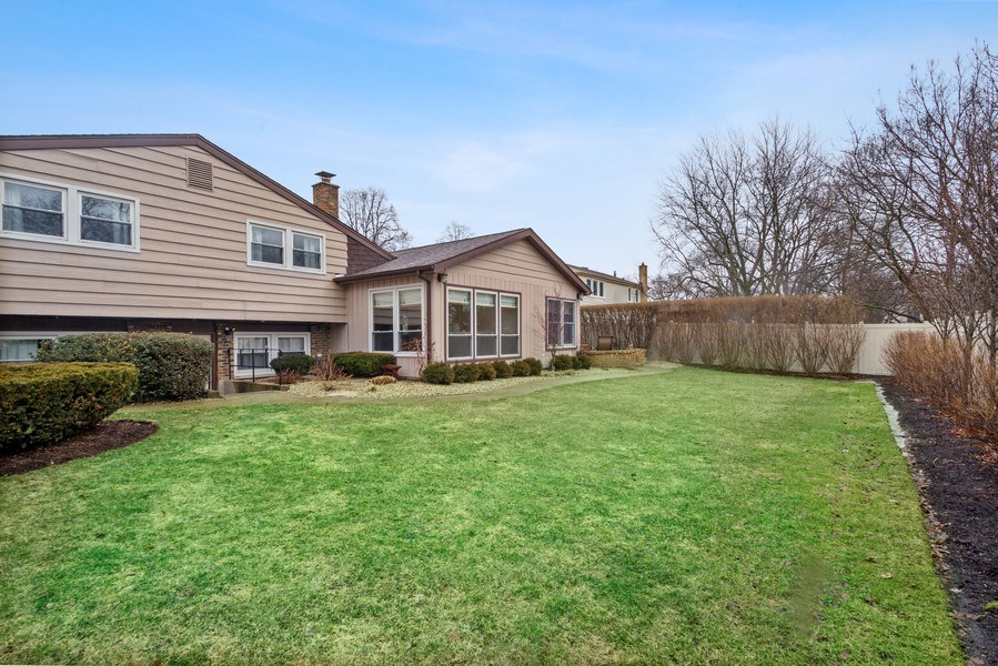 Real Estate Photography - 3117 Sandy, Glenview, IL, 60026 - Rear View