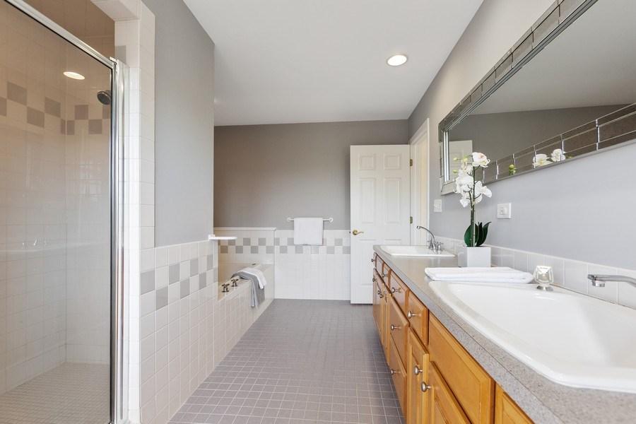 Real Estate Photography - 7726 Sugarbush Lane, Willowbrook, IL, 60527 - Master Bathroom (alternate view)