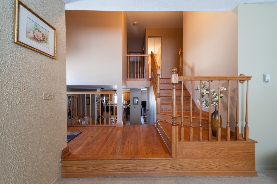 Real Estate Photography - 409 Pioneer, Addison, IL, 60101 - Staircase