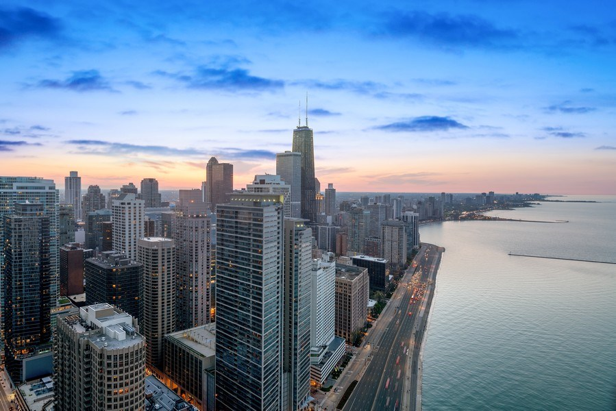 Real Estate Photography - 505 N Lake Shore Drive, Unit 5801, Chicago, IL, 60611 - View