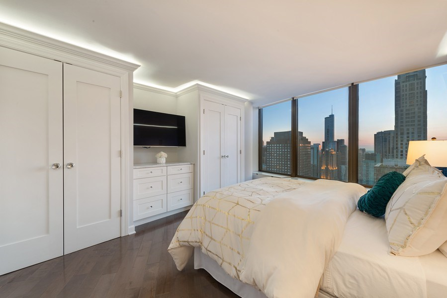 Real Estate Photography - 505 N Lake Shore Drive, Unit 5801, Chicago, IL, 60611 - 3rd Bedroom