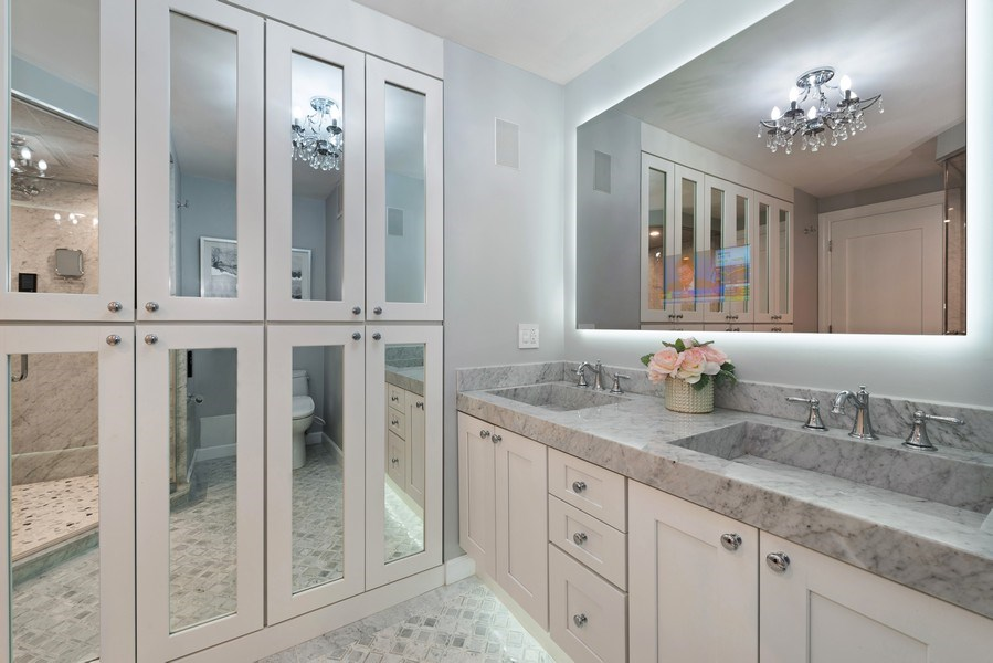 Real Estate Photography - 505 N Lake Shore Drive, Unit 5801, Chicago, IL, 60611 - Master Bathroom