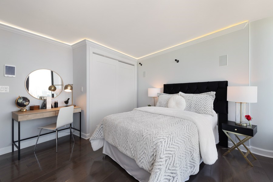 Real Estate Photography - 505 N Lake Shore Drive, Unit 5801, Chicago, IL, 60611 - 2nd Bedroom