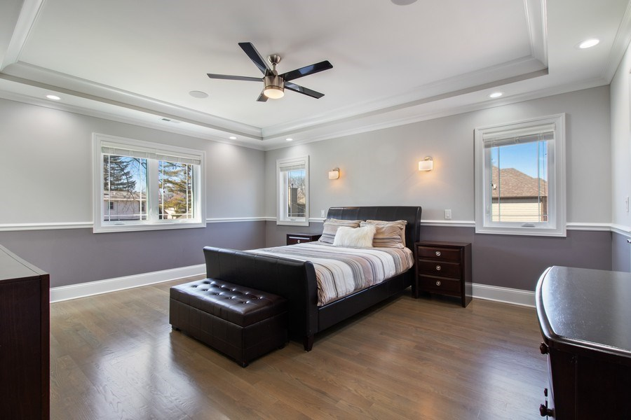 Real Estate Photography - 706 Justina, Hinsdale, IL, 60521 - Master Bedroom