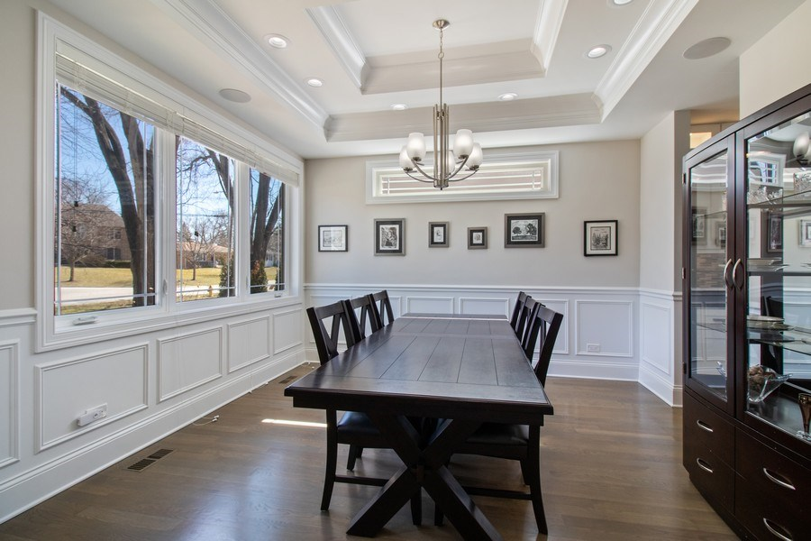 Real Estate Photography - 706 Justina, Hinsdale, IL, 60521 - Dining Room