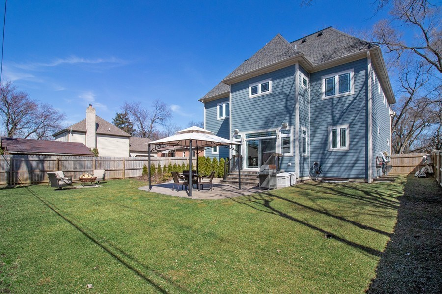 Real Estate Photography - 706 Justina, Hinsdale, IL, 60521 - Rear View