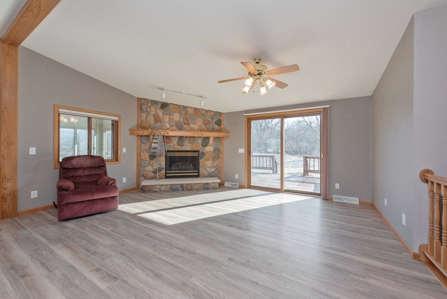 Real Estate Photography - W6588 Mine Road, Iron Ridge, WI, 53035 - Living Room