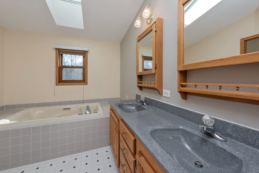 Real Estate Photography - W6588 Mine Road, Iron Ridge, WI, 53035 - Master Bathroom