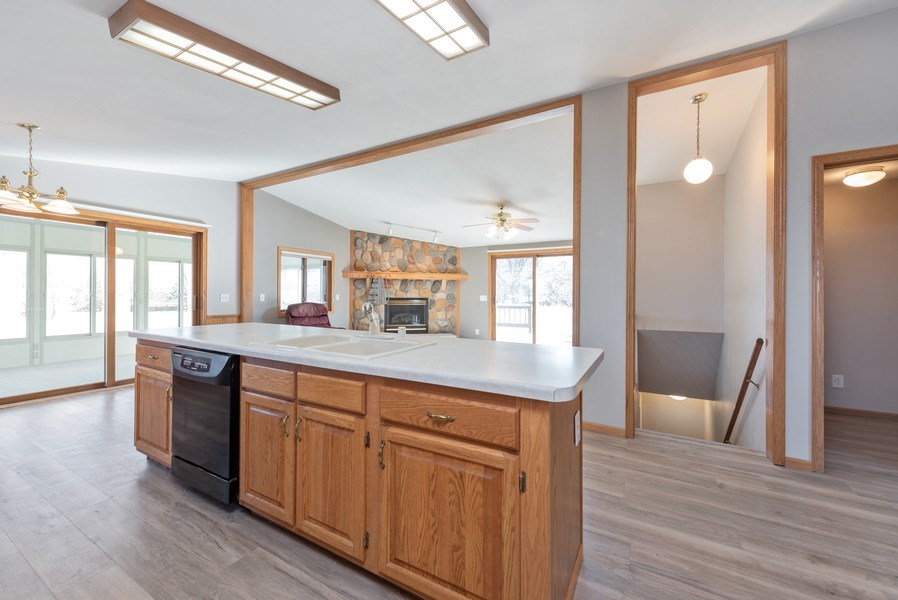 Real Estate Photography - W6588 Mine Road, Iron Ridge, WI, 53035 - Kitchen