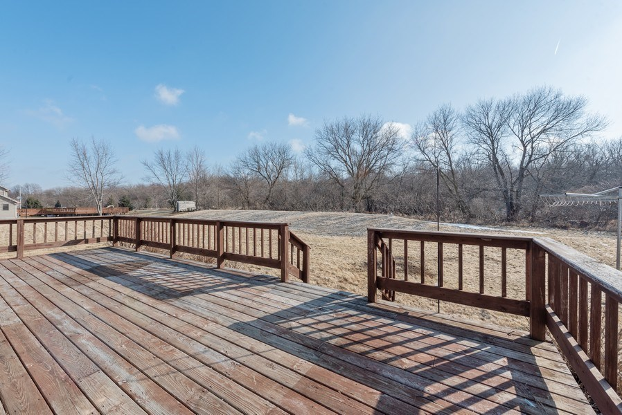 Real Estate Photography - W6588 Mine Road, Iron Ridge, WI, 53035 - Deck