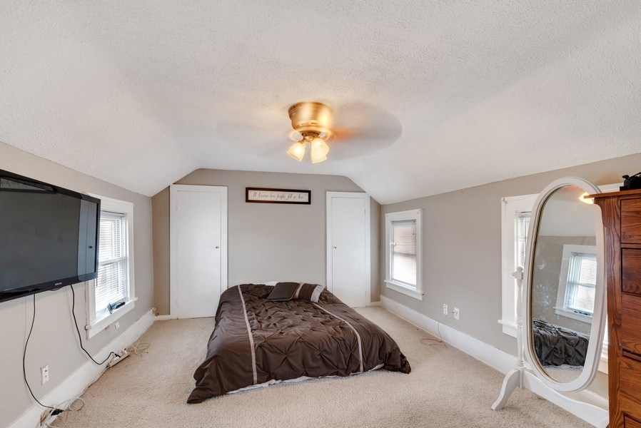 Real Estate Photography - 204 N Mill St, Aroma Park, IL, 60910 - Master Bedroom