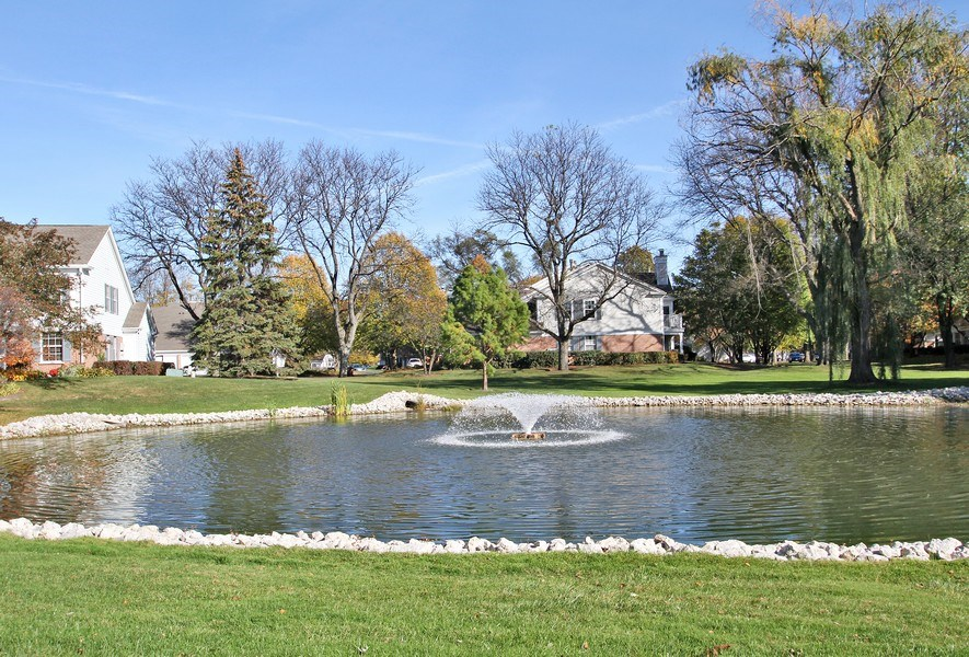Real Estate Photography - 117B Rob Roy, Second flr, Prospect Hgts, IL, 60070 - Pond View