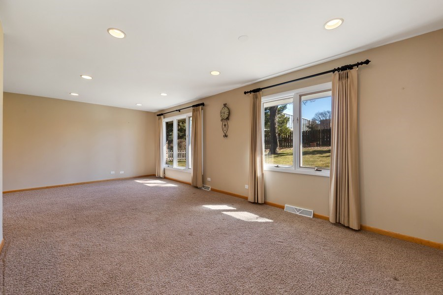 Real Estate Photography - 3811 Candlewood Ct, Downers Grove, IL, 60515 - The Living Room/Dining Room