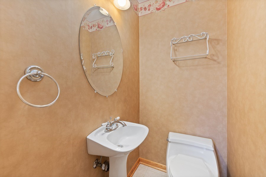 Real Estate Photography - 3811 Candlewood Ct, Downers Grove, IL, 60515 - Powder Room