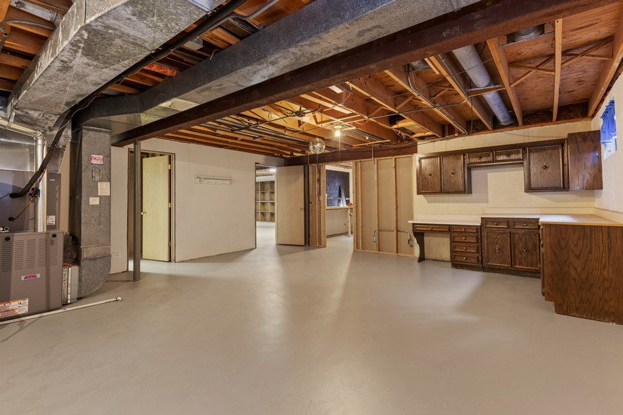 Real Estate Photography - 3811 Candlewood Ct, Downers Grove, IL, 60515 - Total of Four Basement Rooms including a Workshop