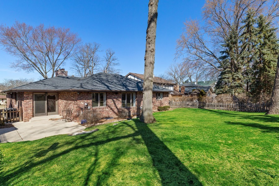 Real Estate Photography - 3811 Candlewood Ct, Downers Grove, IL, 60515 - The Back View of the House with Patio