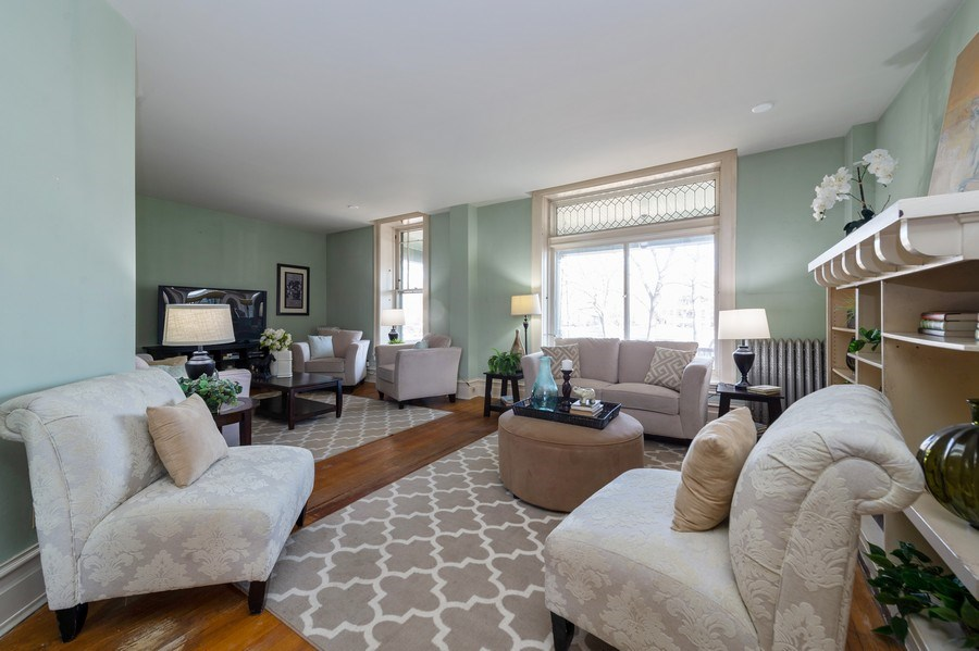 Real Estate Photography - 2549 W Logan Blvd, Chicago, IL, 60647 - Living Room