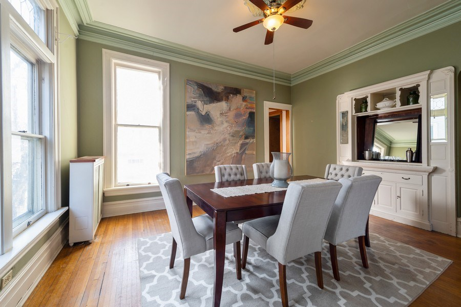 Real Estate Photography - 2549 W Logan Blvd, Chicago, IL, 60647 - Dining Room