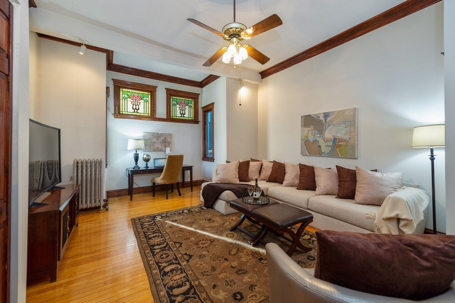 Real Estate Photography - 2549 W Logan Blvd, Chicago, IL, 60647 - Family Room