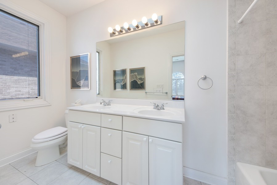 Real Estate Photography - 716 Howard, Des Plaines, IL, 60018 - 3rd Bathroom