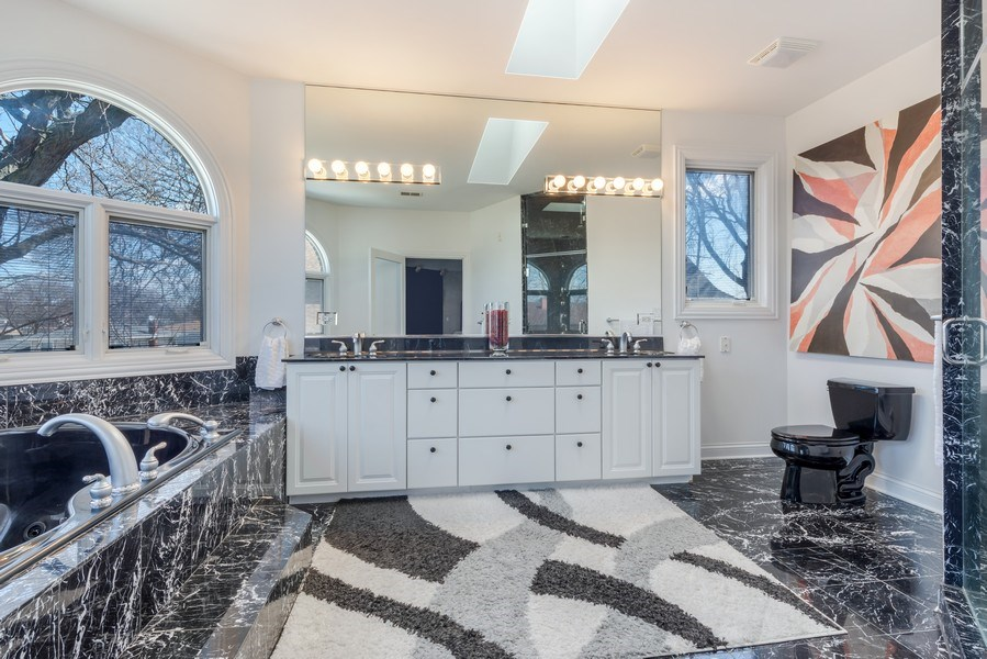 Real Estate Photography - 716 Howard, Des Plaines, IL, 60018 - Master Bathroom