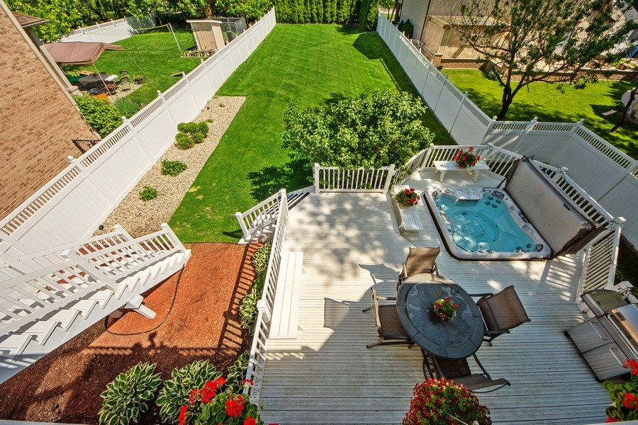 Real Estate Photography - 716 Howard, Des Plaines, IL, 60018 - Back Yard