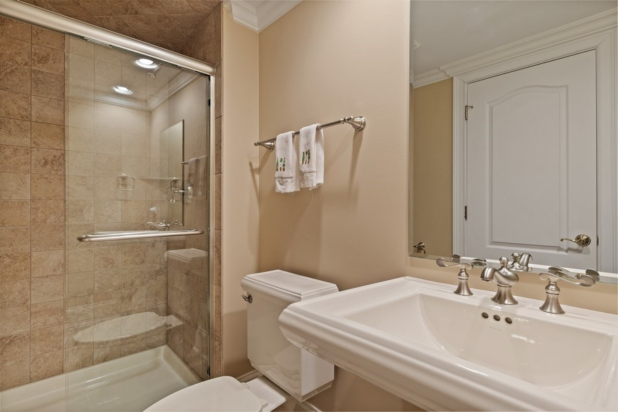 Real Estate Photography - 810 S Clay, Hinsdale, IL, 60521 - Basement Bathroom